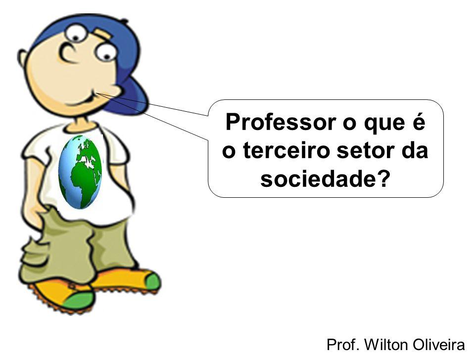Prof. Wilton Oliveira Professor o que é o terceiro setor da sociedade?