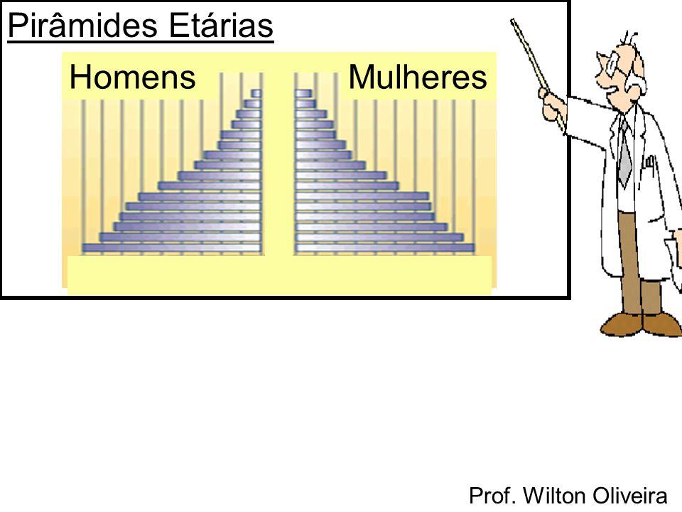 Prof. Wilton Oliveira Pirâmides Etárias HomensMulheres