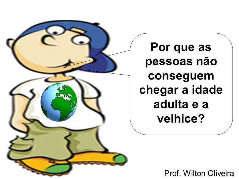Prof. Wilton Oliveira Por que as pessoas não conseguem chegar a idade adulta e a velhice?