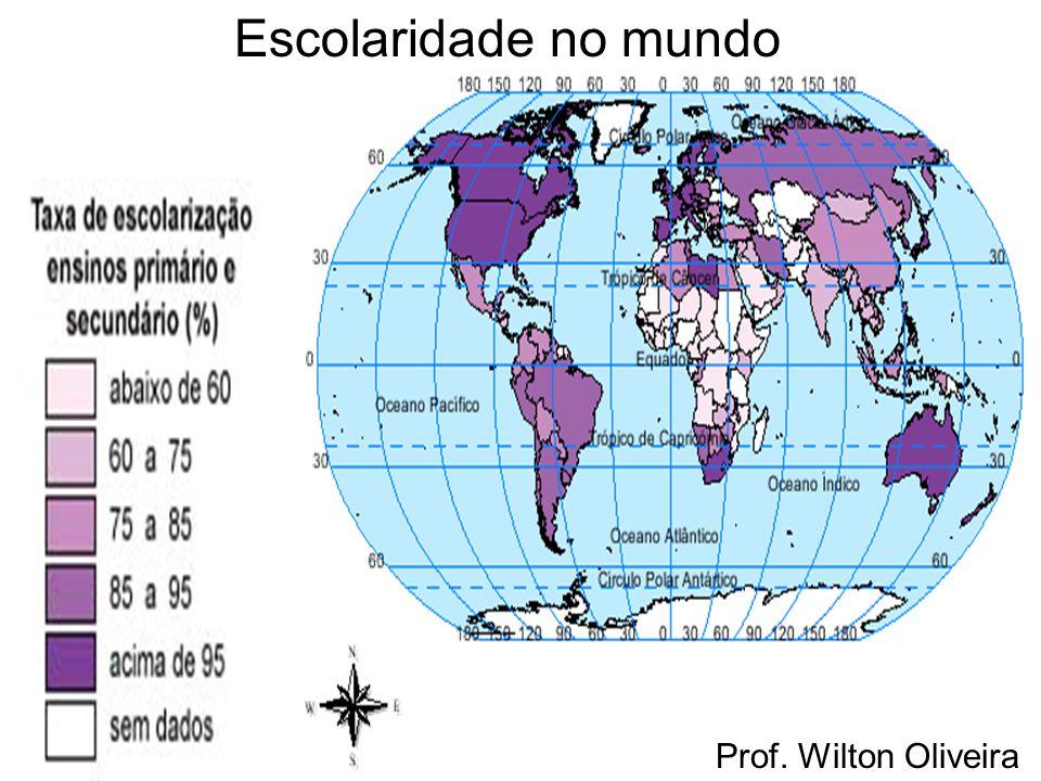 Prof. Wilton Oliveira Escolaridade no mundo
