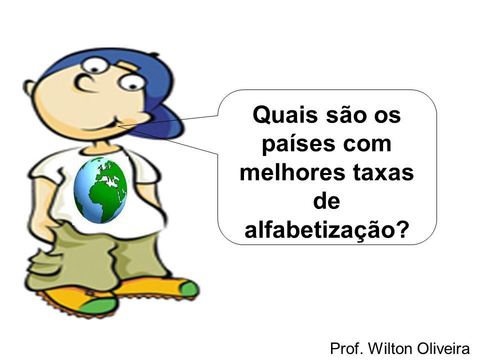 Prof. Wilton Oliveira Quais são os países com melhores taxas de alfabetização?