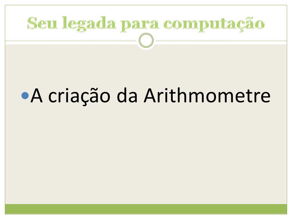  A criação da Arithmometre