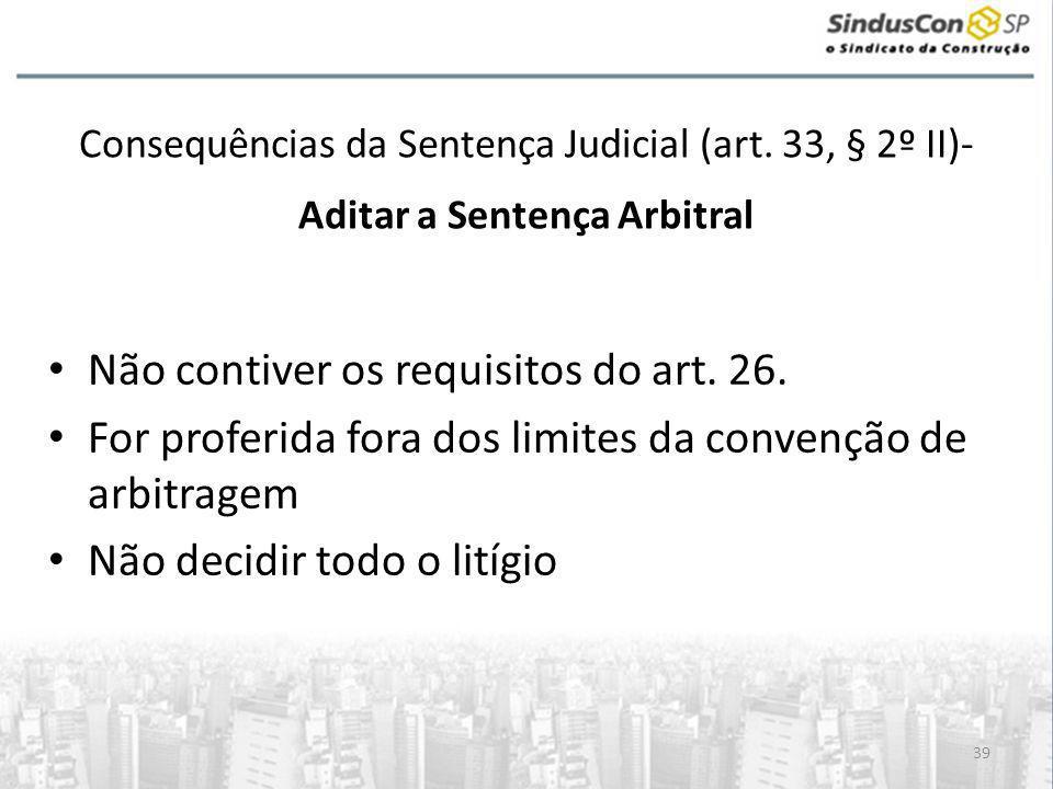 39 Consequências da Sentença Judicial (art.