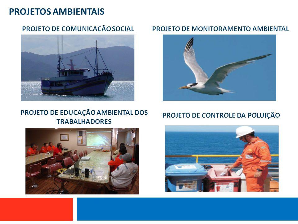 PROJETOS AMBIENTAIS Embarcação que utiliza linha de mão PROJETO DE COMUNICAÇÃO SOCIALPROJETO DE MONITORAMENTO AMBIENTAL PROJETO DE EDUCAÇÃO AMBIENTAL
