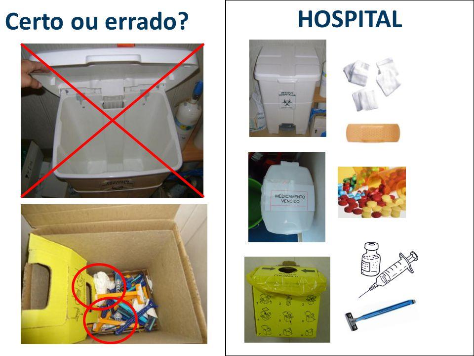 Certo ou errado? HOSPITAL