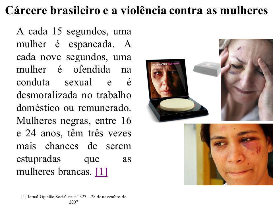 Cárcere brasileiro e a violência contra as mulheres A cada 15 segundos, uma mulher é espancada. A cada nove segundos, uma mulher é ofendida na conduta