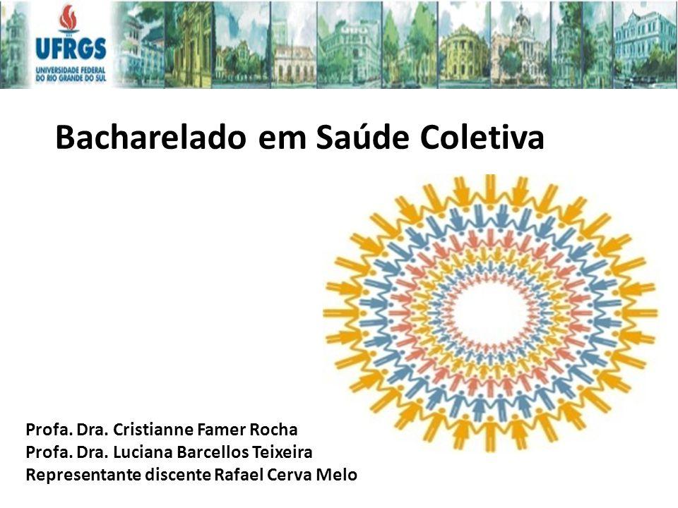 Nomenclatura do Curso – Mudança em 2013: Análise de Políticas e Sistemas de Saúde Bacharelado em Saúde Coletiva