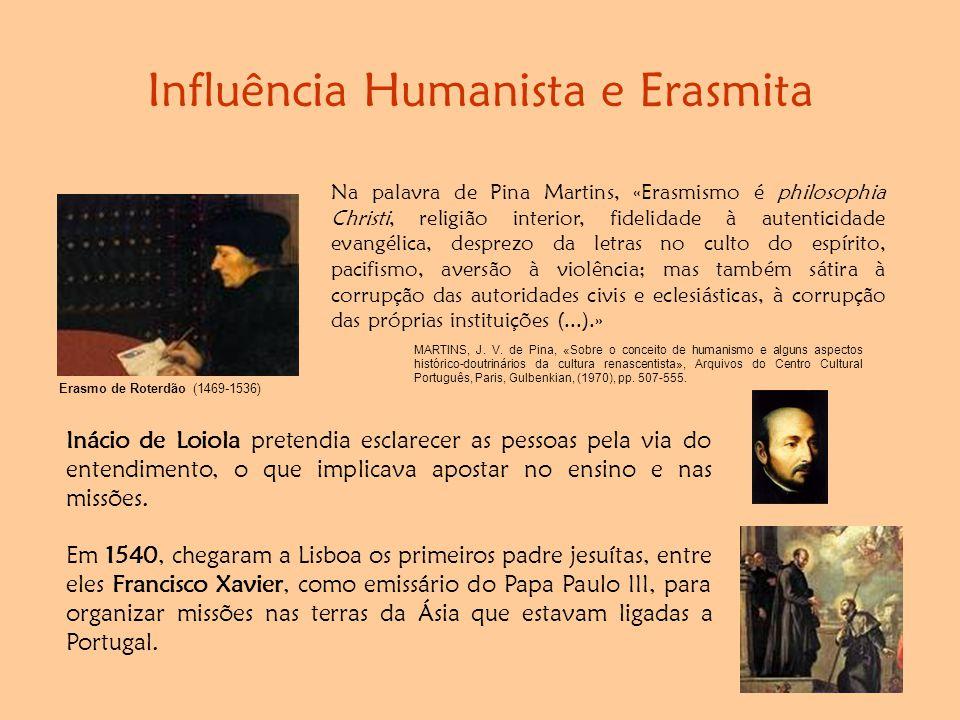 Influência Humanista e Erasmita Na palavra de Pina Martins, «Erasmismo é philosophia Christi, religião interior, fidelidade à autenticidade evangélica