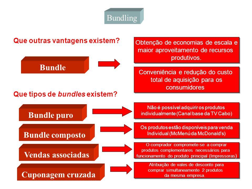 Bundling Que outras vantagens existem? Bundle Obtenção de economias de escala e maior aproveitamento de recursos produtivos. Obtenção de economias de