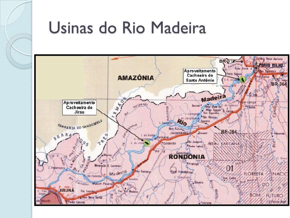 Usina de Santo Antonio ◦ 3.150 MW de energia (2.218 MW de energia média) ◦ R$ 15,1 bilhões; ◦ Furnas Centrais Elétricas (39%), Fundo de Investimento (FIP) formado por Banif, Santander e FI-FGTS (20%), Odebrecht Investimentos em Infraestrutura (18,4%), Odebrecht Engenharia e Construção (1%), Andrade Gutierrez (11,6%) e Cemig (10%)