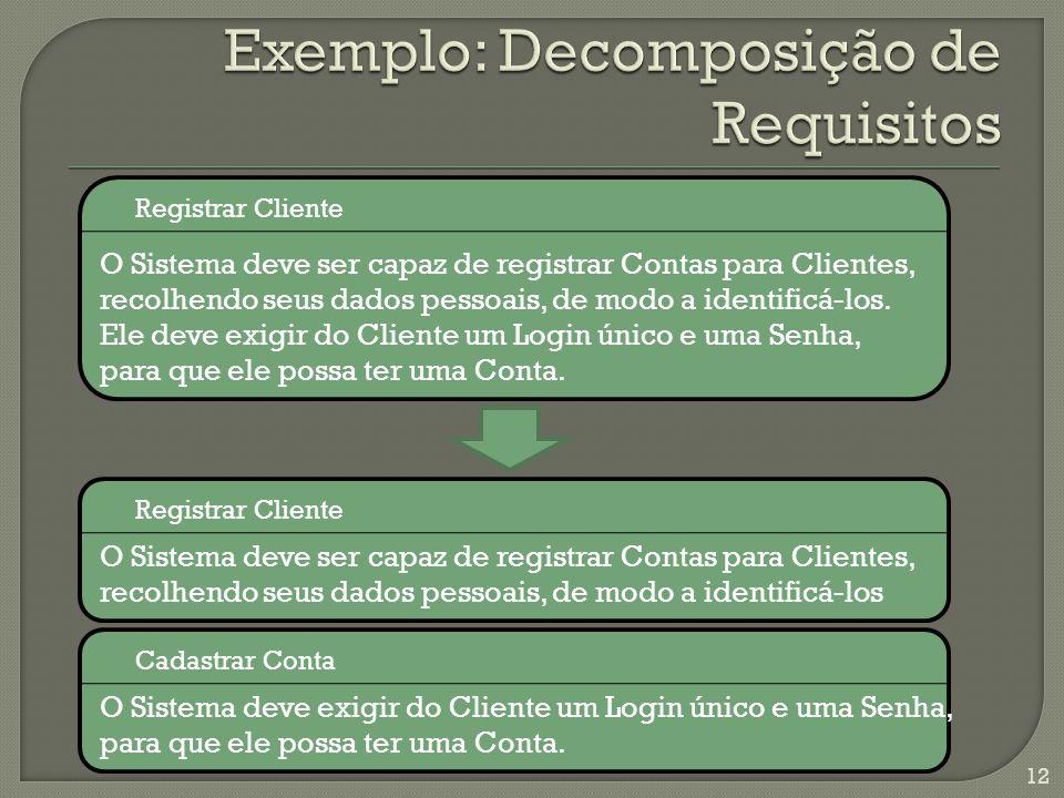 12 O Sistema deve ser capaz de registrar Contas para Clientes, recolhendo seus dados pessoais, de modo a identificá-los.