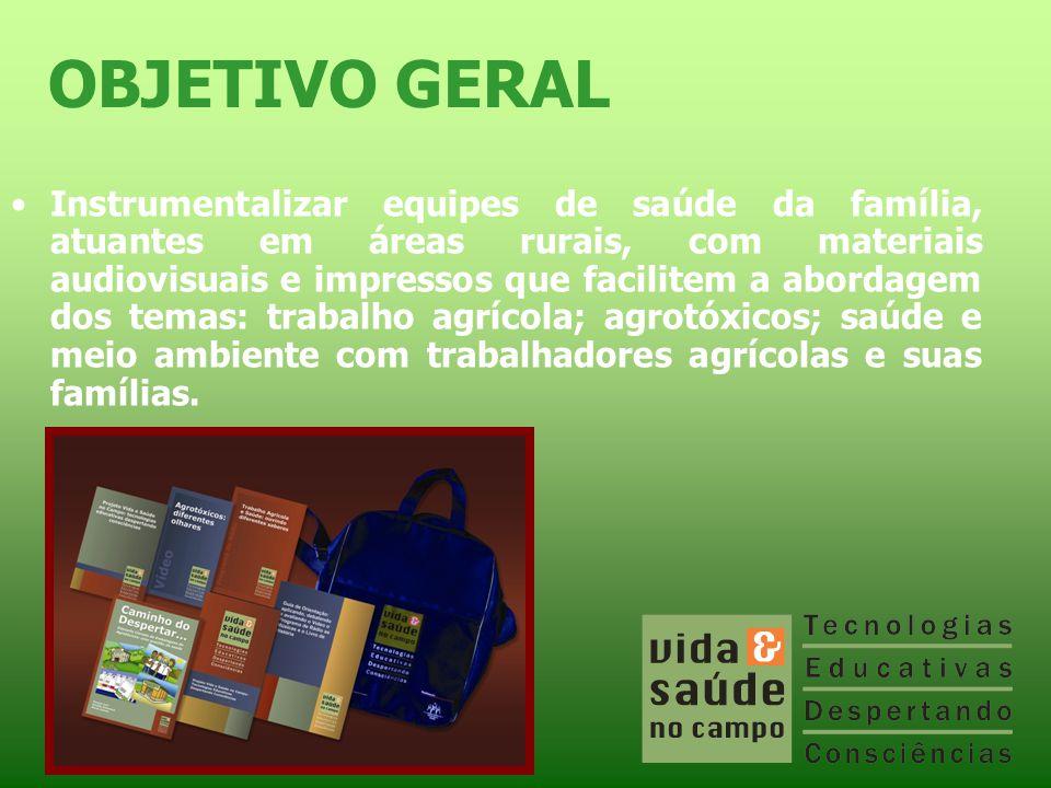 •Instrumentalizar equipes de saúde da família, atuantes em áreas rurais, com materiais audiovisuais e impressos que facilitem a abordagem dos temas: t