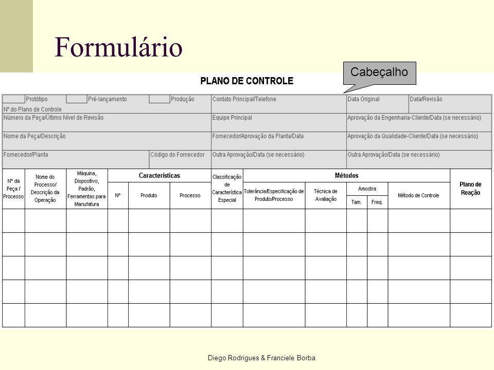Diego Rodrigues & Franciele Borba Formulário Cabeçalho