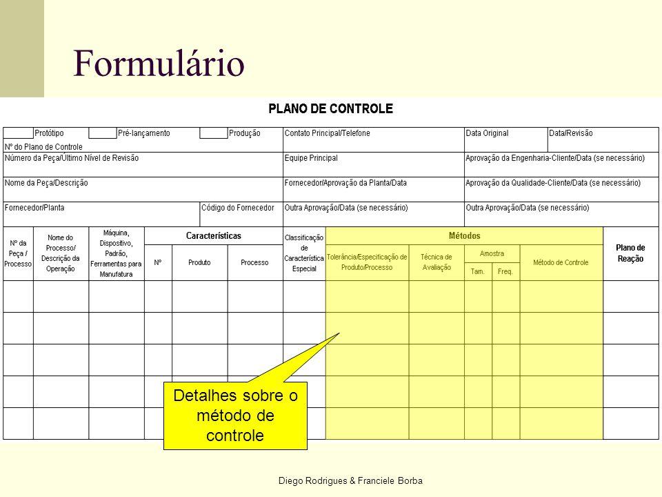 Diego Rodrigues & Franciele Borba Formulário Detalhes sobre o método de controle