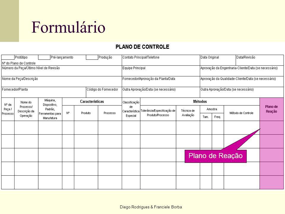Diego Rodrigues & Franciele Borba Formulário Plano de Reação