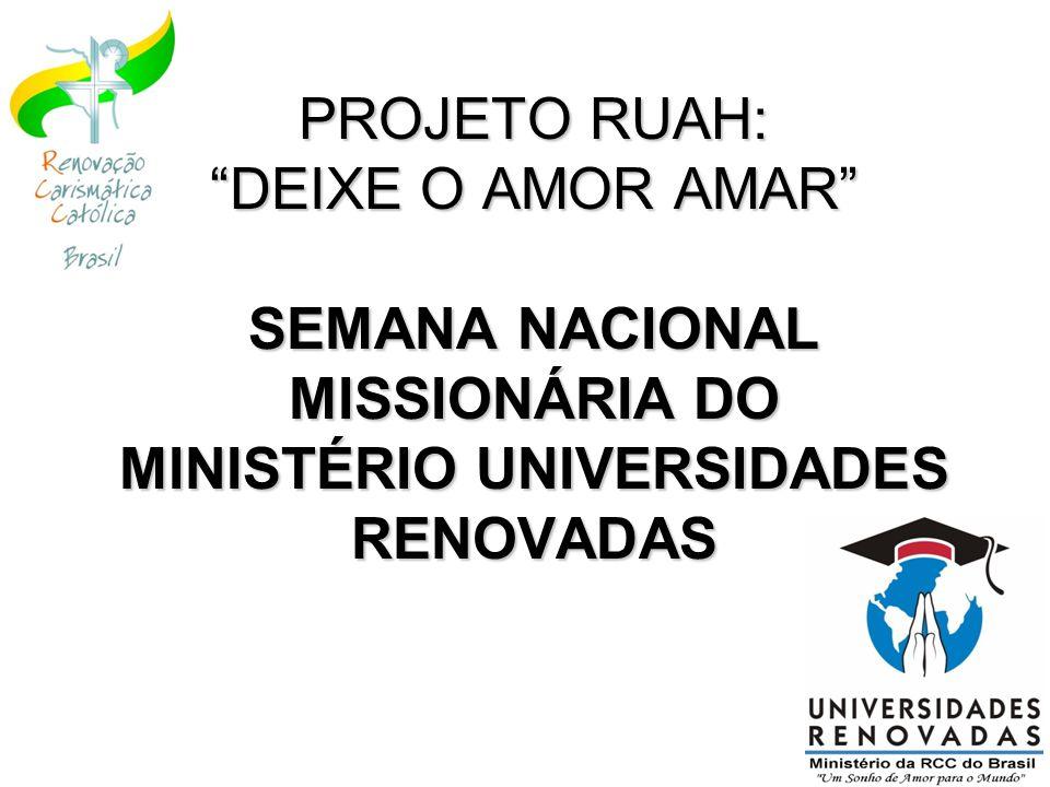 Realização: Renovação Carismática Católica do Brasil Ministério Universidades Renovadas