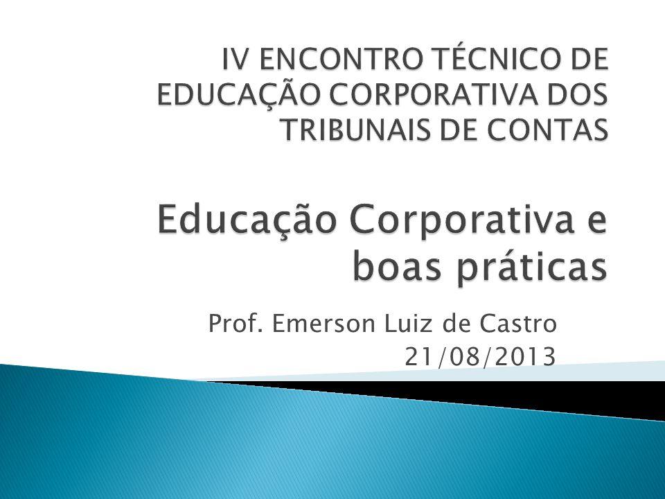 Prof. Emerson Luiz de Castro 21/08/2013