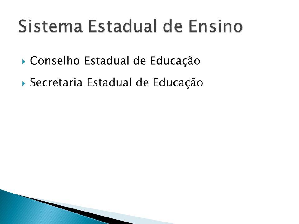  Conselho Estadual de Educação  Secretaria Estadual de Educação
