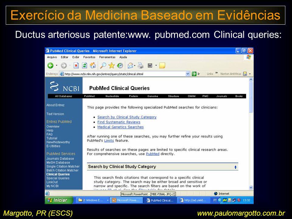 Margotto, PR (ESCS) Ductus arteriosus patente:www.