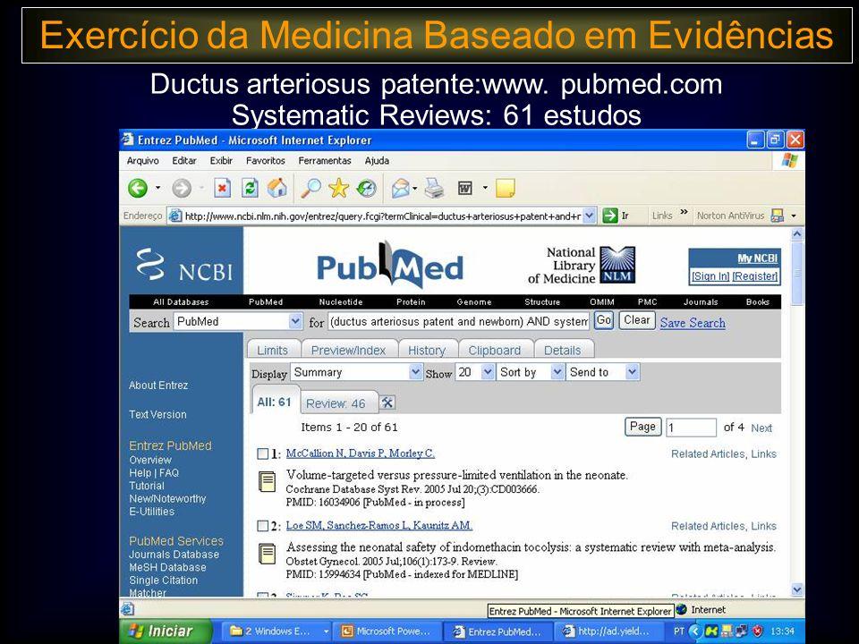 Exercício da Medicina Baseado em Evidências Ductus arteriosus patente:www.