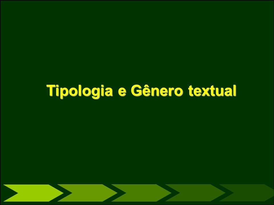 Tipologia e Gênero textual