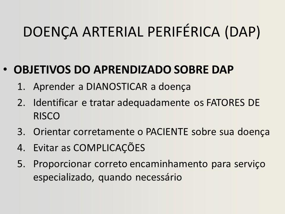 DOENÇA ARTERIAL PERIFÉRICA • DIAGNÓSTICO CLÍNICO