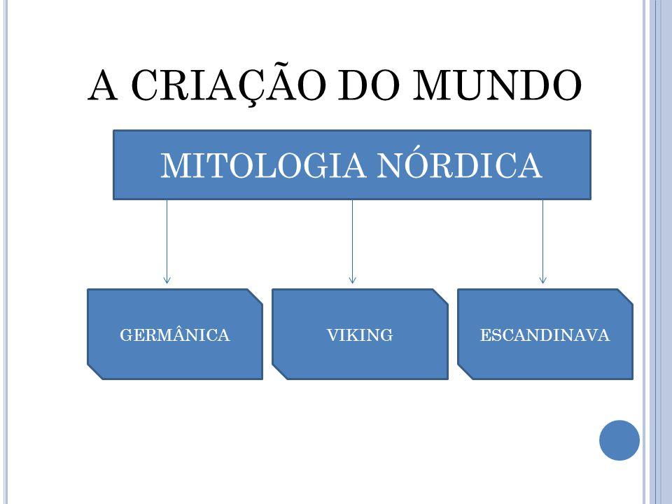 A CRIAÇÃO DO MUNDO MITOLOGIA NÓRDICA GERMÂNICAVIKINGESCANDINAVA