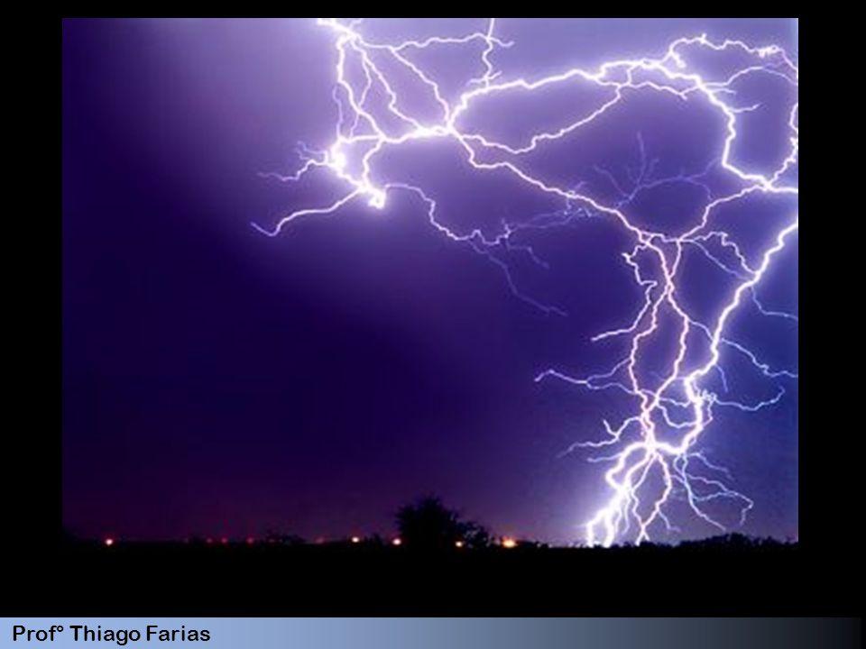 Prof° Thiago Farias 12 Tales de Mileto (640-546 a.C.) observou que o âmbar, ao ser atritado em lã, adquire a propriedade de atrair objetos leves e secos Willian Gilbert (1544-1603) El ektron em grego significa âmbar Elétrico, eletrizar, eletricidade Benjamin Franklin (1706-1790 ) passou a chamar a carga elétrica vítrea de positiva e a resinosa de negativa.
