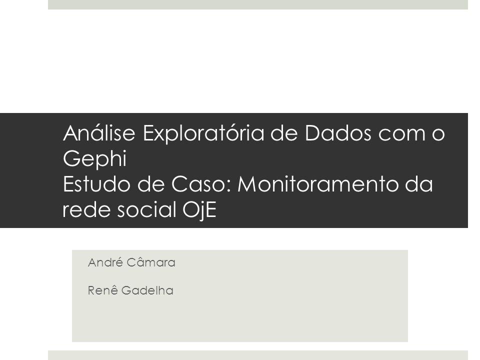 Análise Exploratória de Dados com o Gephi Estudo de Caso: Monitoramento da rede social OjE André Câmara Renê Gadelha
