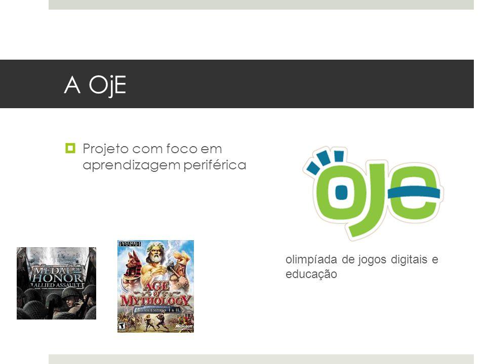 A OjE  Projeto com foco em aprendizagem periférica olimpíada de jogos digitais e educação