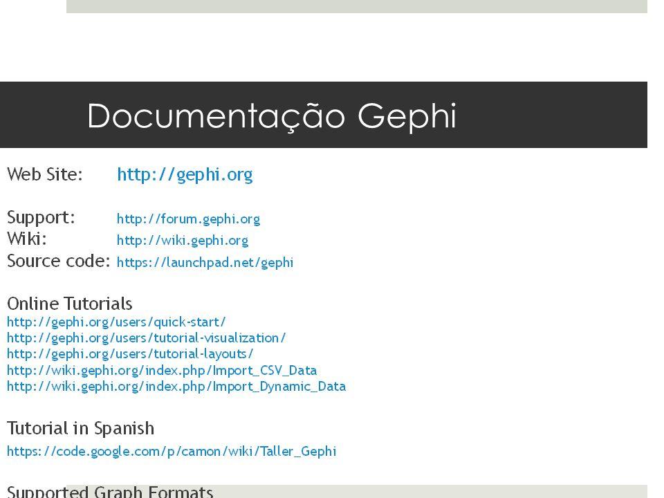 Documentação Gephi