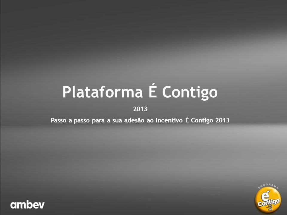 É Contigo 2013 – Adesão ao Incentivo É Contigo Ano 2 – Plataforma É Contigo • Pronto.