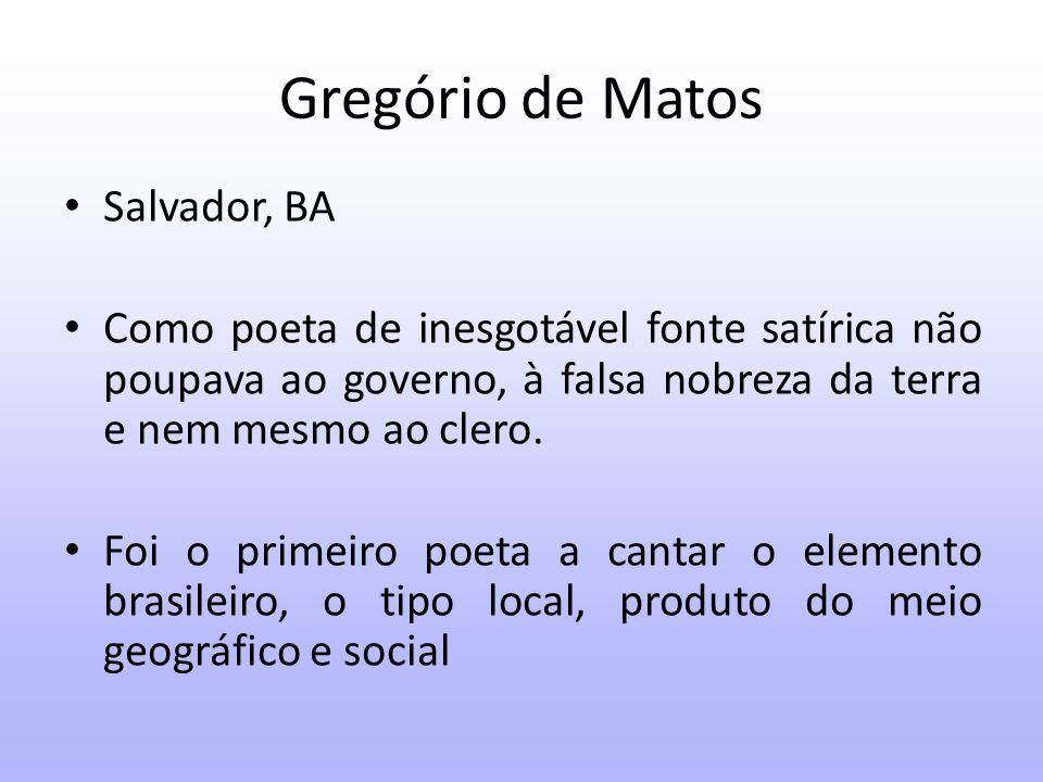 Gregório de Matos Estudante de Direito, lá, entrou em contato com a perspectiva humanista que incentivava a leitura de autores clássicos.