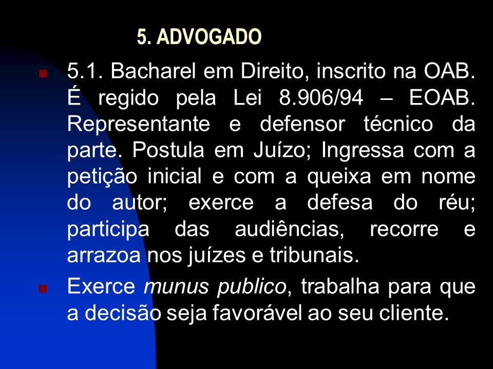 5.ADVOGADO  5.1. Bacharel em Direito, inscrito na OAB.