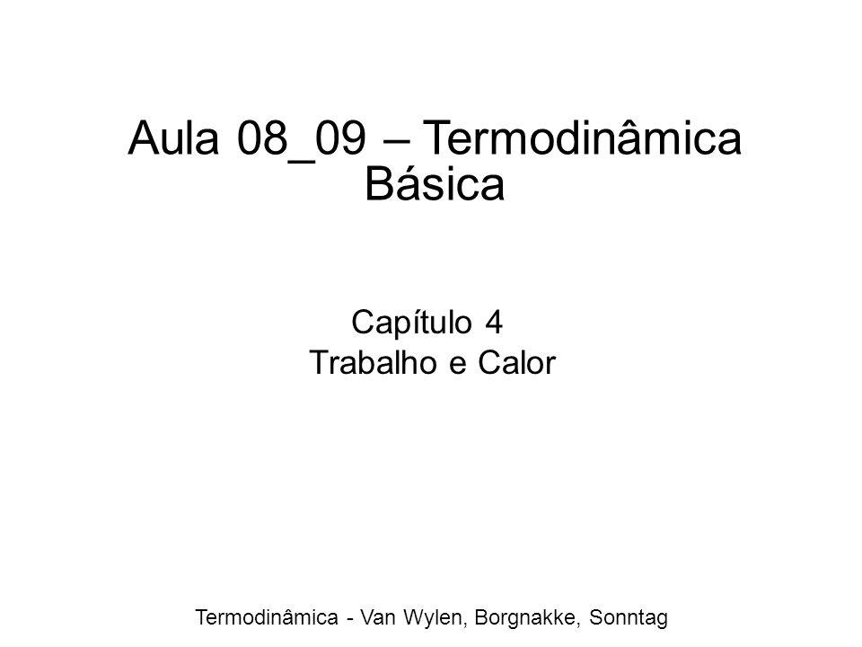 Termodinâmica - Van Wylen, Borgnakke, Sonntag Aula 08_09 – Termodinâmica Básica Capítulo 4 Trabalho e Calor