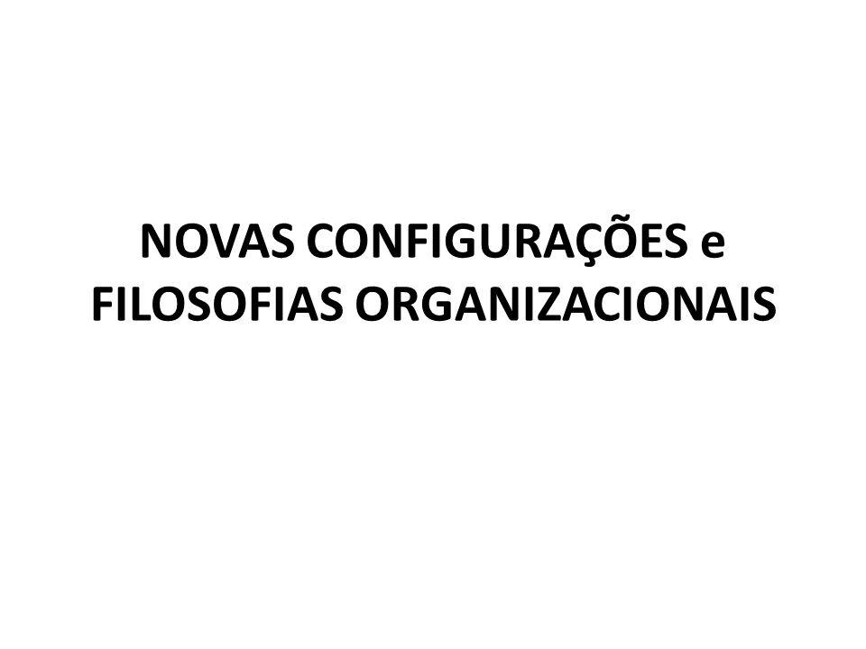 NOVAS CONFIGURAÇÕES e FILOSOFIAS ORGANIZACIONAIS