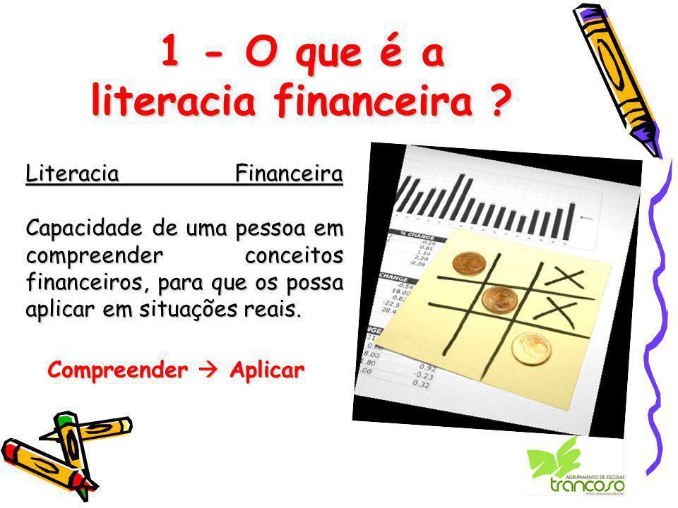 1 - O que é a literacia financeira .