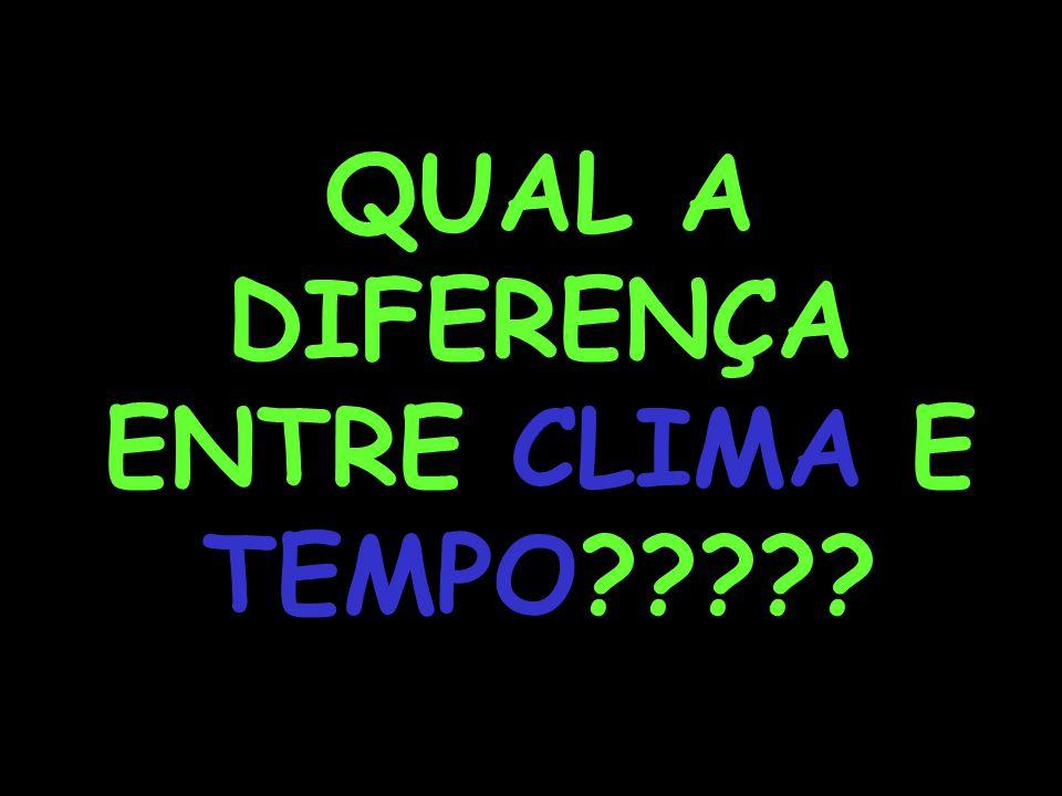 QUAL A DIFERENÇA ENTRE CLIMA E TEMPO?????