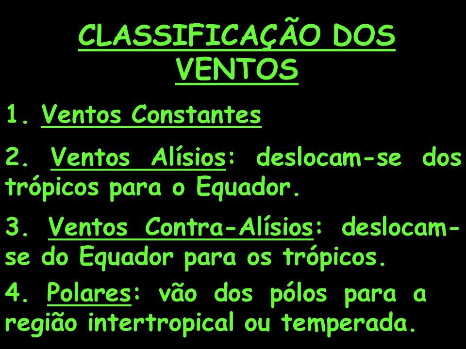 CLASSIFICAÇÃO DOS VENTOS 1.Ventos Constantes 2.