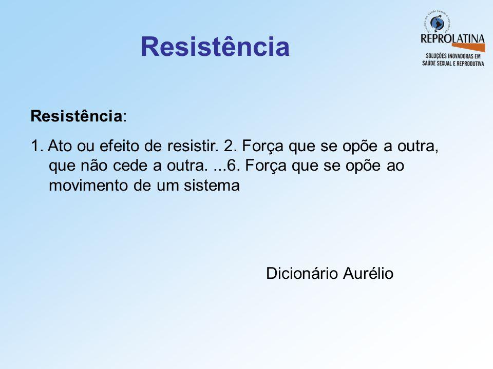 Resistência Resistência: 1. Ato ou efeito de resistir. 2. Força que se opõe a outra, que não cede a outra....6. Força que se opõe ao movimento de um s