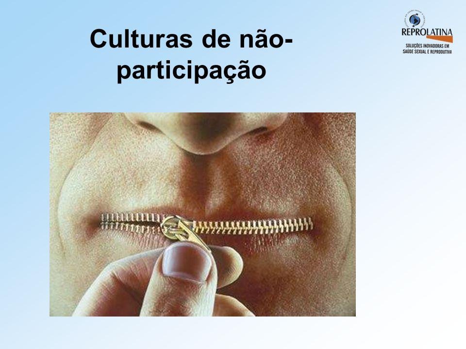 Culturas de não- participação