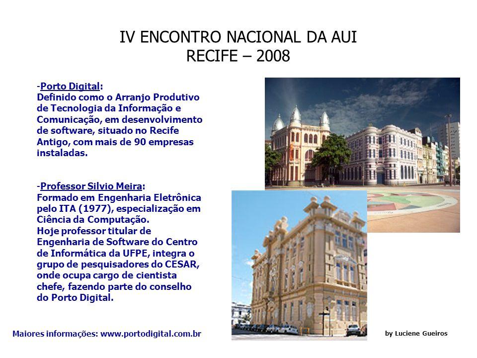 IV ENCONTRO NACIONAL DA AUI RECIFE – 2008 by Luciene Gueiros BOI PRETO GRILL: - Rede de Churrascarias de altíssimo nível de sofisticação em ambiente e