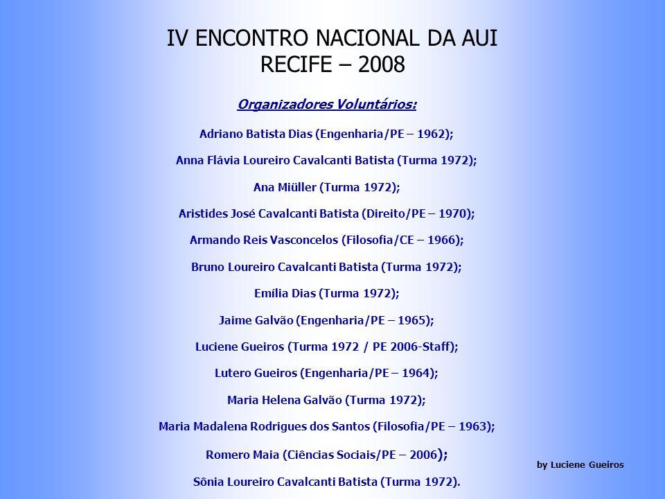 Tema EDUCAÇÃO E DESENVOLVIMENTO SUSTENTÁVEL IV ENCONTRO NACIONAL DA AUI RECIFE – 01 à 04/05/2008 by Luciene Gueiros