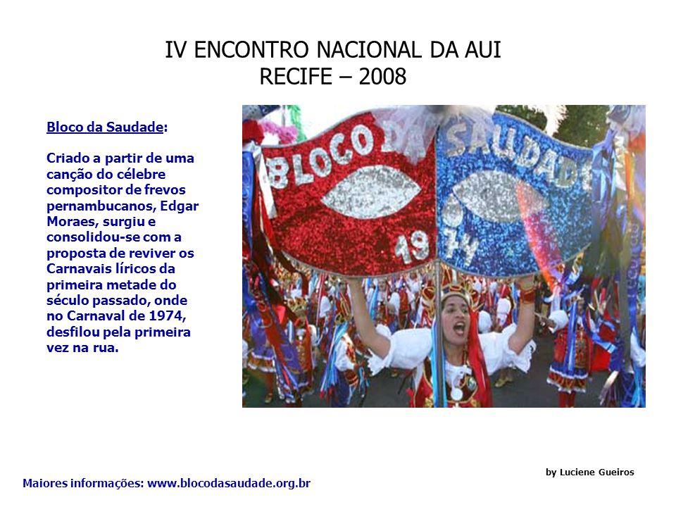 IV ENCONTRO NACIONAL DA AUI RECIFE – 2008 Cabánga Iate Club: O Cabanga Iate Clube de Pernambuco é hoje um dos melhores clubes náuticos do país. Sua gr