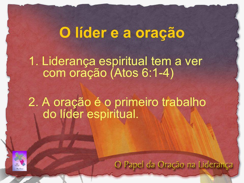 O líder e a oração 1. Liderança espiritual tem a ver com oração (Atos 6:1-4) 2. A oração é o primeiro trabalho do líder espiritual.