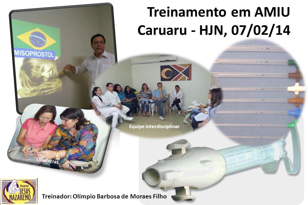 Treinamento em AMIU Caruaru - HJN, 07/02/14 Treinador: Olímpio Barbosa de Moraes Filho Obstetras Equipe interdisciplinar