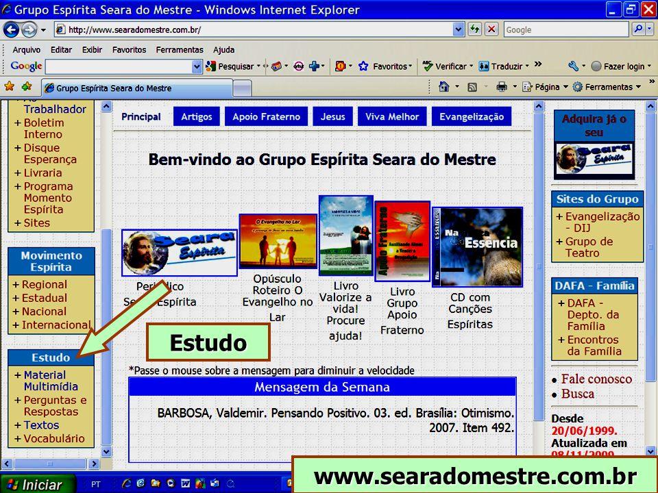 www.searadomestre.com.br Estudo