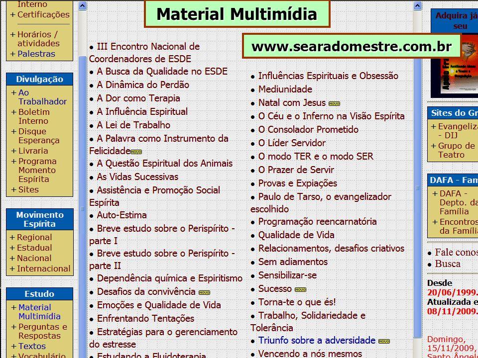 www.searadomestre.com.br Material Multimídia