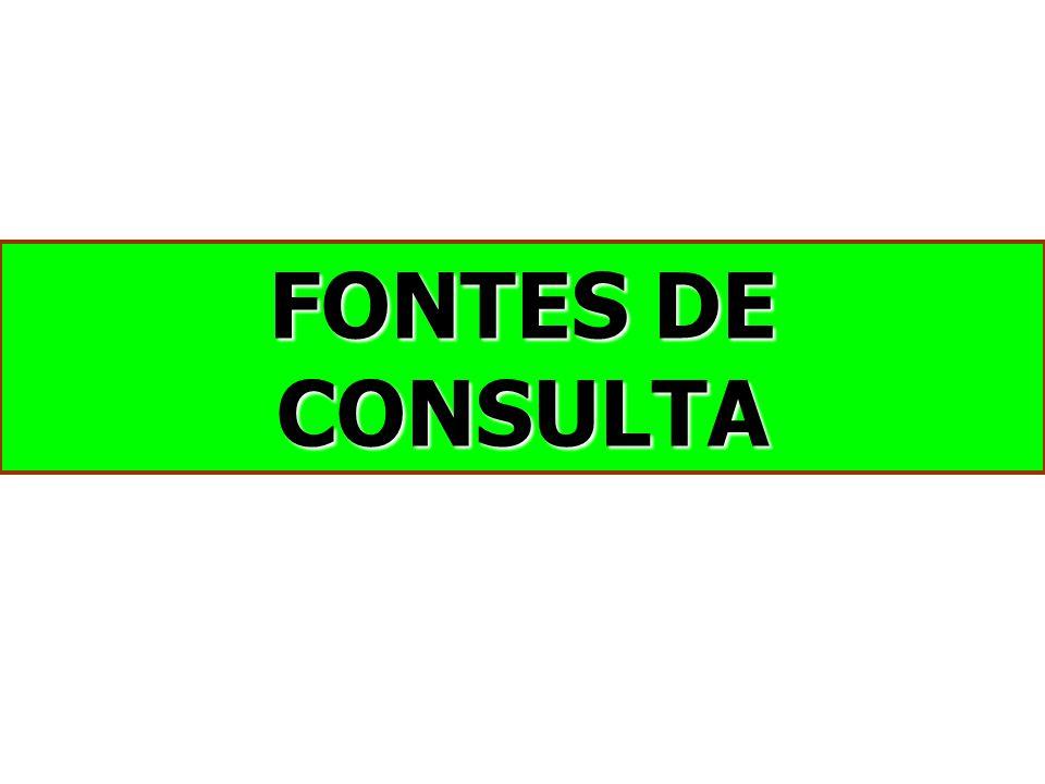 FONTES DE CONSULTA