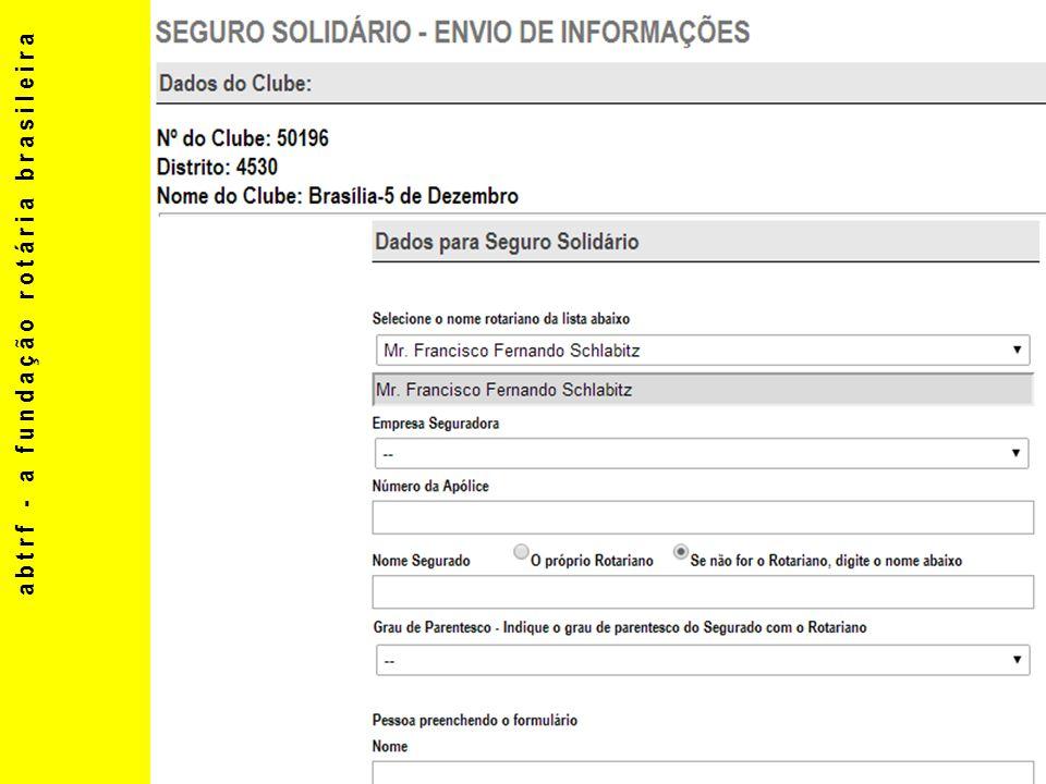 abtrf - a fundação rotária brasileira 1 A.VOIGT arnovoigt@yahoo.com.br 2 H.DOREA hugo@dorea.com.br 3 J.L.BAIOCCO jlbaiocco@bol.com.br A.E.NAHAS eliasenicenahas@uol.com.br 4 M.C.CAMARGO mario.cesar@graficabandeirantes.com.br 5 A.COUTO cruzcouto@lowcucar.com.br 6 COORDENADORES 13